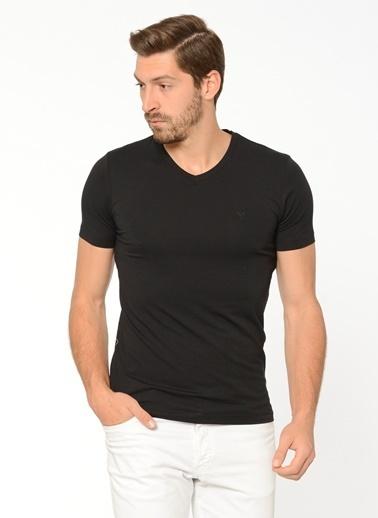 Comienzo V Yaka Tişört Siyah